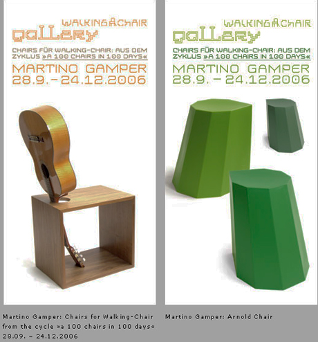 Martino Gamper at the Walking Chair Gallery