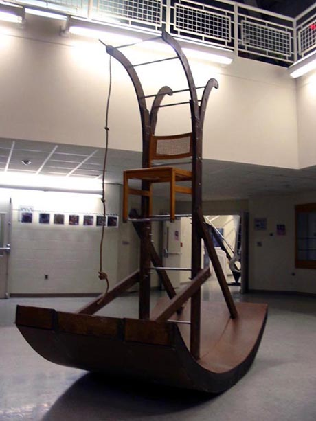 Jacob Williams: Rocking Ladder with Chair Installation 01
