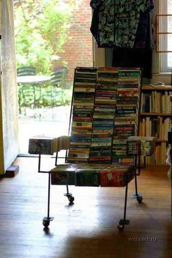 Lounge Chair made of paperbacks