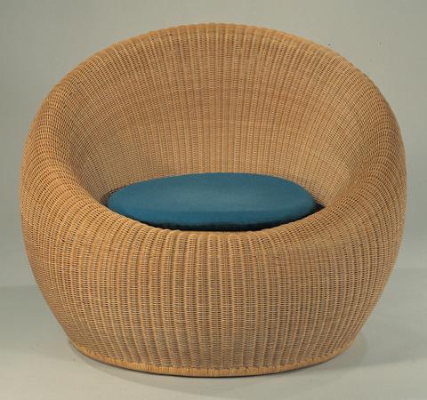 Round Rattan Chair C-315-E by Kenmochi Design Associates