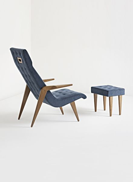 Rare Lounger with ottoman by Gio Ponti (1950s) 96_001
