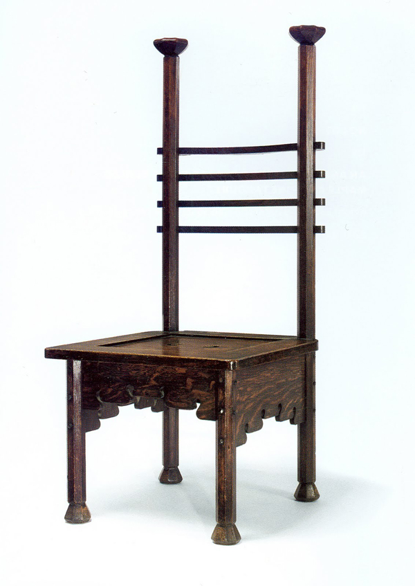 Rare Dining Chair by Charles Rohlfs