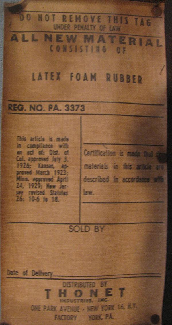 Tag Thonet Industries INC. York USA Mystery Chair