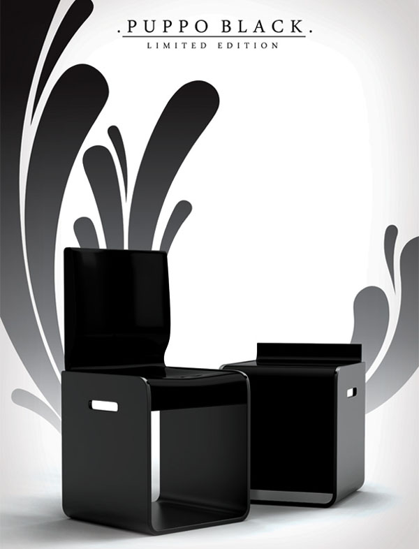 Puppo Chair by Mladen Milosevic & Vuk Dragovic black