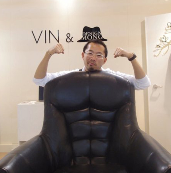 Mr. Chair by Soojin Hyun with male model