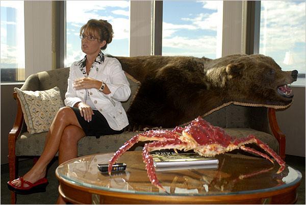 Sara Palin Grizzly Bear Chair