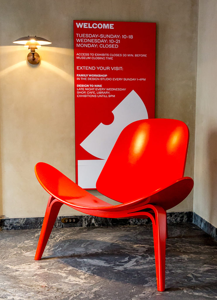 Orange CH07 Shell Chair by Hans Wegner