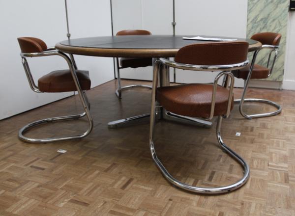 4 Cantilever Tubular Mystery Chairs