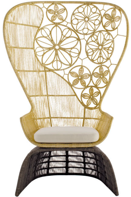 Crinoline High Back Chair by Patricia
