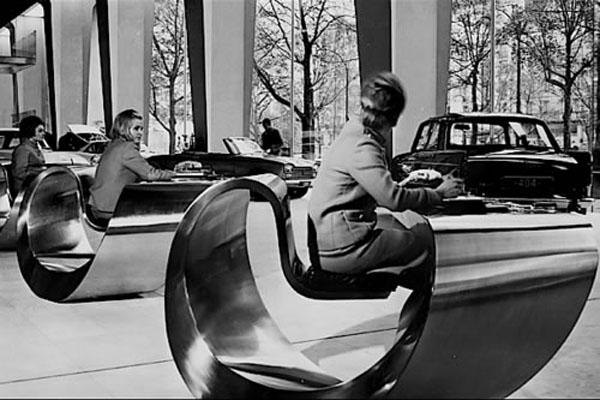 Desk with Seat for Peugeot Paris Showroom - 1966