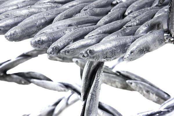 Fish Rocking Chair by Tristan Cochrane Detail