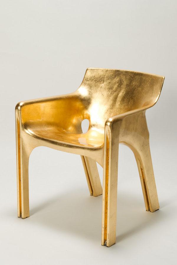 Golden Magistretti Karma Chair Front