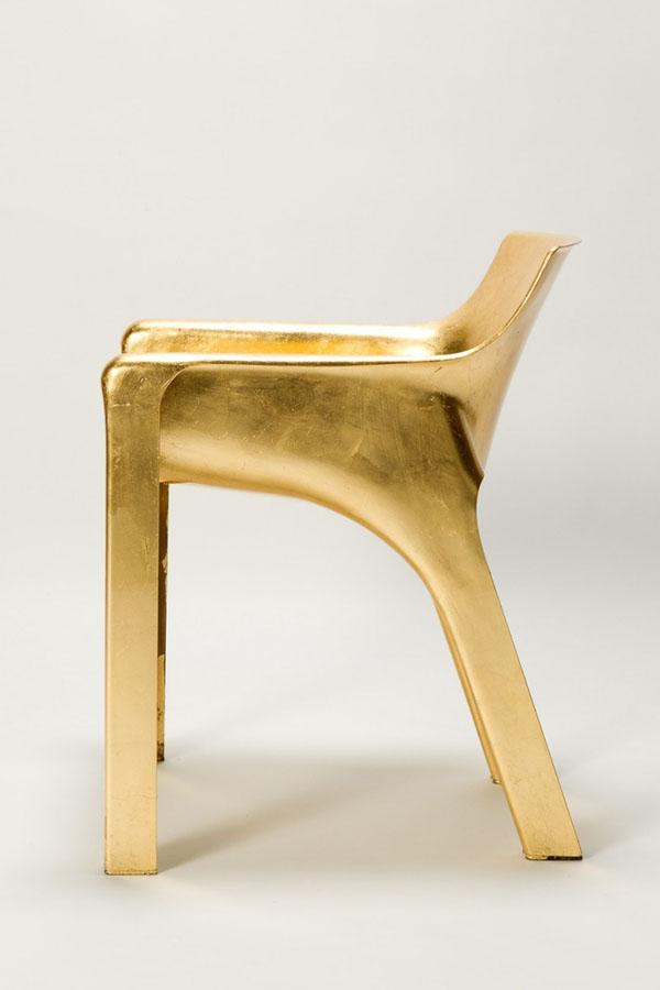 Golden Magistretti Karma Chair Sideview