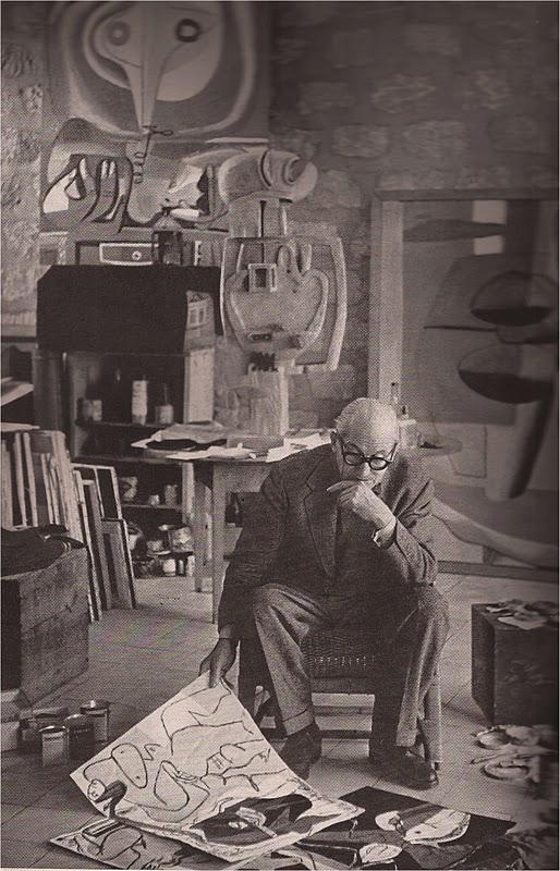 Le Corbusier by Henri Cartier Bresson (1952)