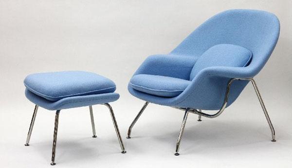 Light Blue Womb Chair