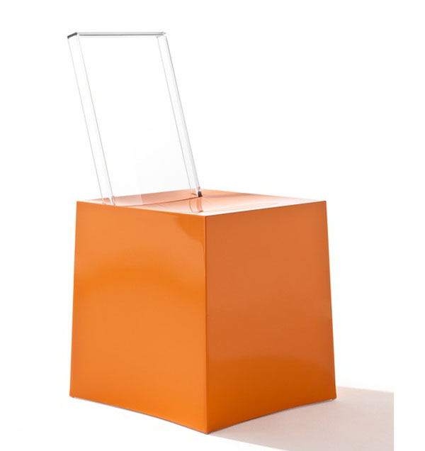 Orange Miss Less Chair by Philippe Starck