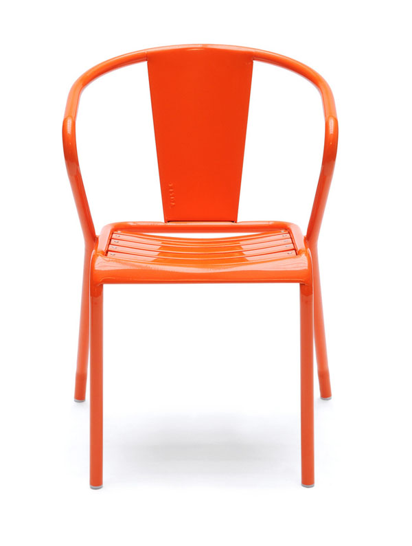 Orange Tolix FT5 by Jean Pauchard