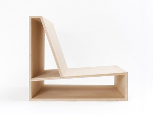 Plywood Chair by Pierre Thibault sideview