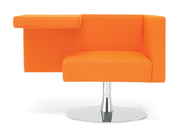 Solitaire Chair by Alfredo Haeberli in Orange
