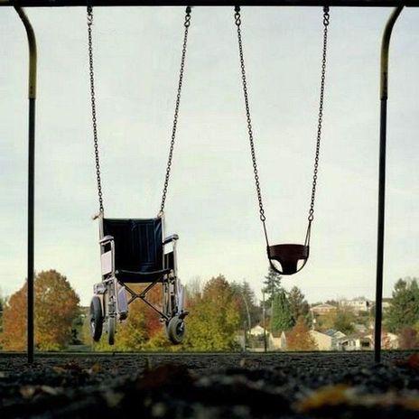 Swinging Wheelchair