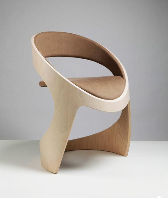 Tube Chair by Jean-Pierre Martz Wood
