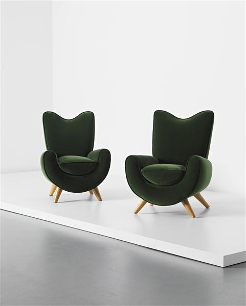 Two Ambassador Chairs (1955) by Jean Royere
