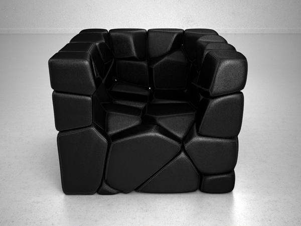 Vuzzle Chair by Christopher Daniel Front