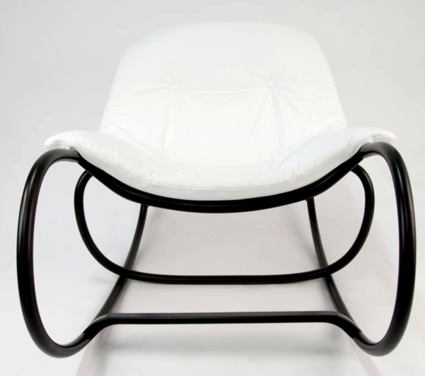 Wave Rocking Chair by Michal Riabic for Ton front