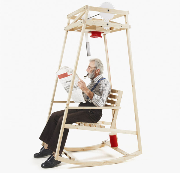 Rocking Chair That Knits You a Hat While You're Rocking