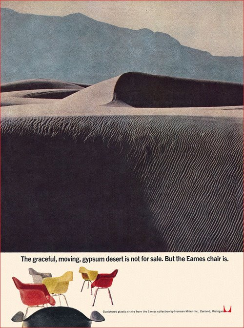 Mid Century Herman Miller Eames Chairs ad