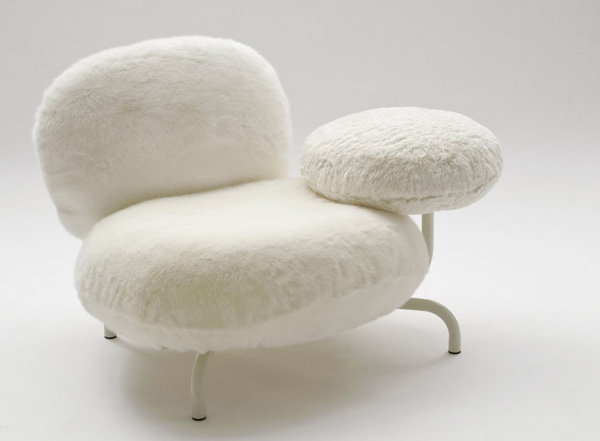 white Cipria Chair by Fernando and Humberto Campana