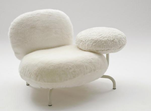 white Cipria Chair by Fernando and Humberto Campana