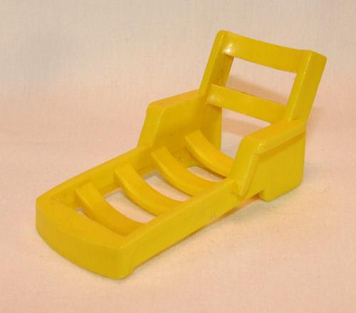 Yellow Fisher Price Miniature Lounge Chair