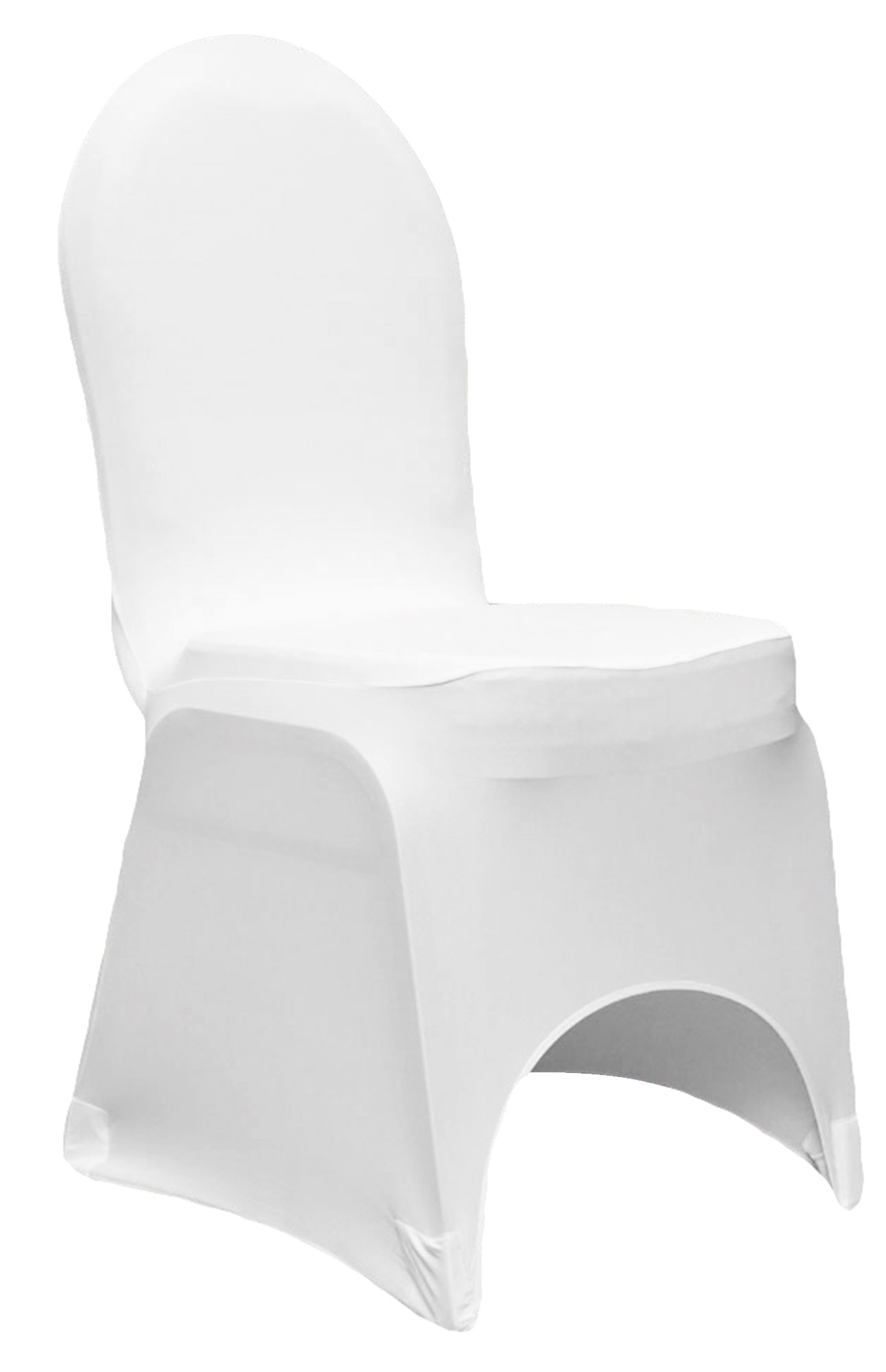 white lycra chair cover for hire