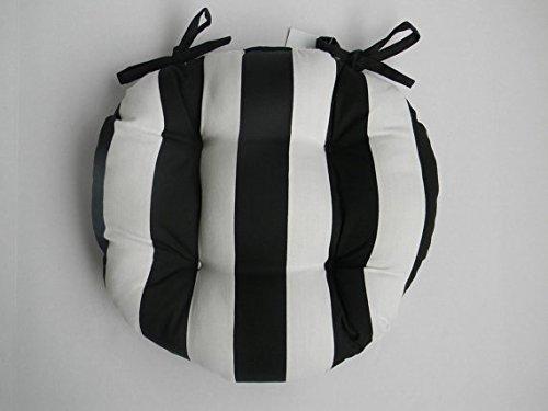 Indoor / Outdoor Round Tufted Bistro Cushion With Ties