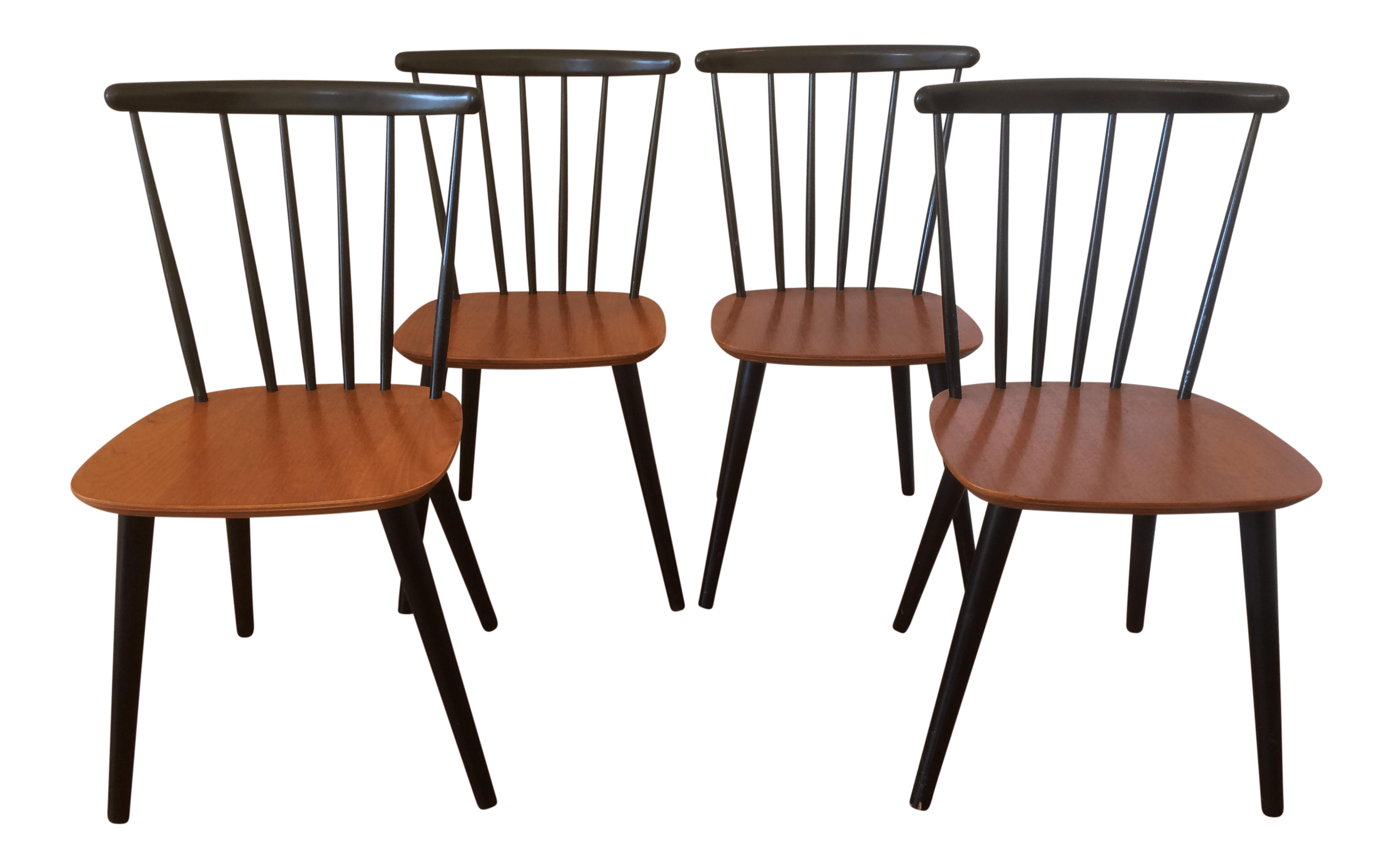 1960s Vintage Farstrup Spindle Back Dining Chairs Set Of 4 Chairish
