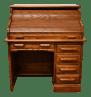 Vintage Rustic Riverside Oak Creek Oak 42 Roll Top Desk Chairish