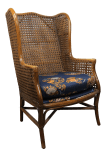 Vintage Lewittes Furniture Boho Chic Bamboo And Cane Wingback Chair