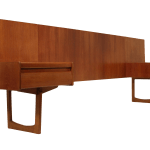 Teak Queen Size Headboard By William Lawrence Of Nottingham
