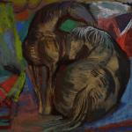1940s Josef Presser Two Horses Painting Chairish