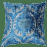 Contemporary Silk Velvet Ikat Pillow Cover Bohemian Pillow Chairish