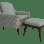 Mid Century Modern Lounge Chair And Ottoman With Teak Chairish