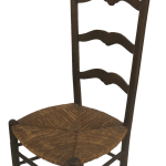 19th Century French Country Ladder Back Chair With Rush Seat Chairish
