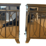 Transitional Mirrored Nightstands A Pair