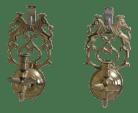 Pair Virginia Metalcrafters Brass Candelabra Wall Sconces Chairish