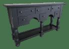 Broyhill Attic Heirlooms Sideboard Buffet Solid Oak Black Distressed Finish Chairish