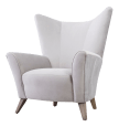 Modern Velvet Wingback Chair Chairish