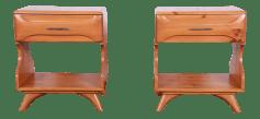 Franklin Shockey Mid Century Modern Solid Pine Nightstands A Pair