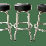 Mid Century Modern Bar Stools Set Of 3 Chairish