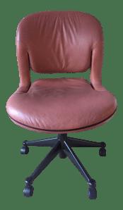 Vintage Mid Century Herman Miller Equa Leather Office Chair Chairish